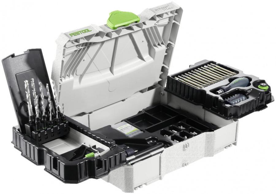 Centrotec SYSTAINER 98-osaline tarvikute komplekt, Festool