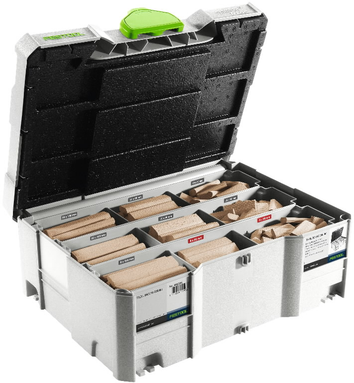 """DOMINO cookies"" assortment DS/XL D8/D10, 306pcs. Beech, Festool"