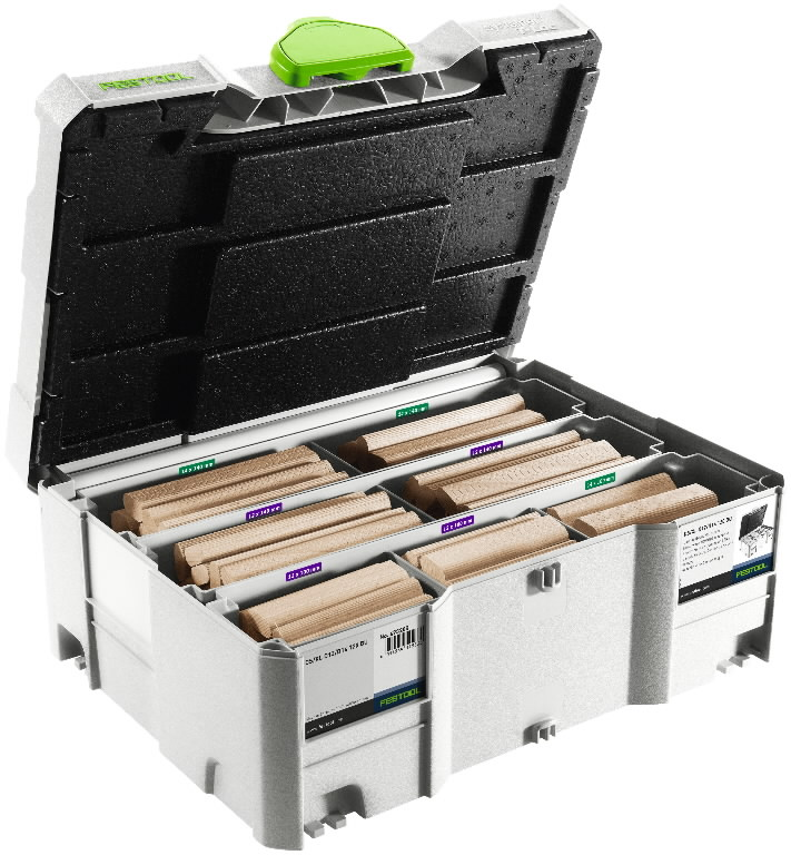 """DOMINO cookies"" assortment DS/XL D12/D14, 128pcs. Beech, Festool"