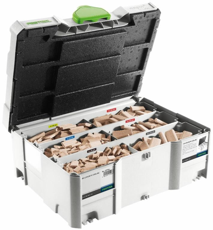 """""""Domino küpsiste"""" valik koos tapipuuridega, 1060tk, Festool"""