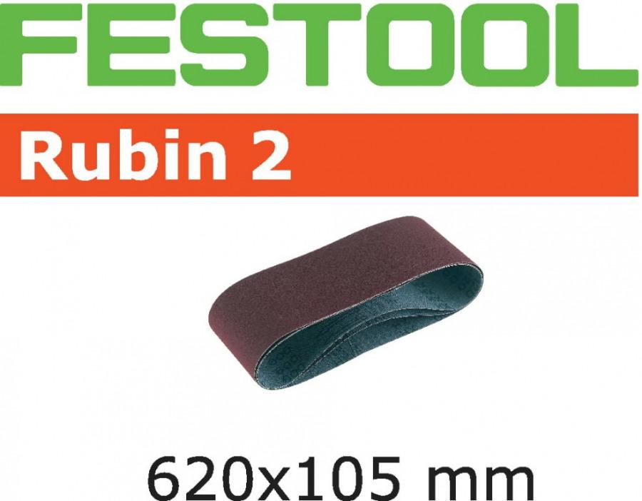 Slifavimo juosta RUBIN 2 / 620x105mm / P120 / 10pcs. BS 105, Festool