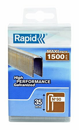Kabės 90/35 1500vnt, plastikinėje dėžutėje, Rapid