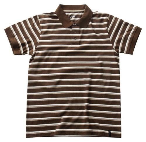 Cumana polo marškinėliai rudi su baltomis juostomis, Mascot