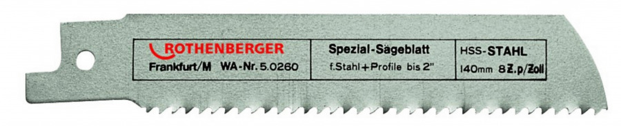 Saw blade 1,6/140mm HSS Metal, Rothenberger