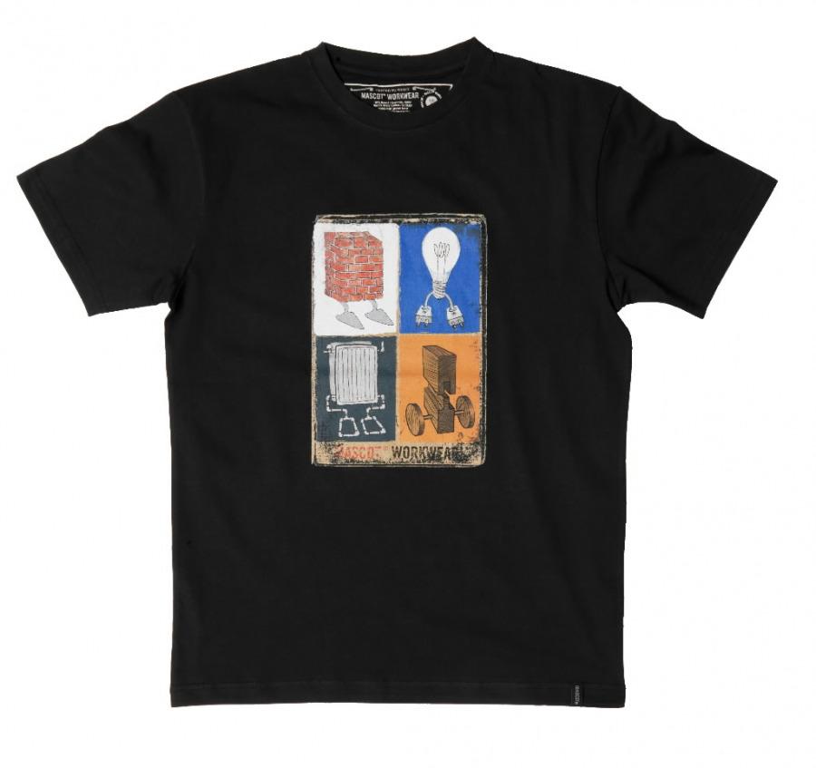 Silverton marškinėliai juodi, Mascot