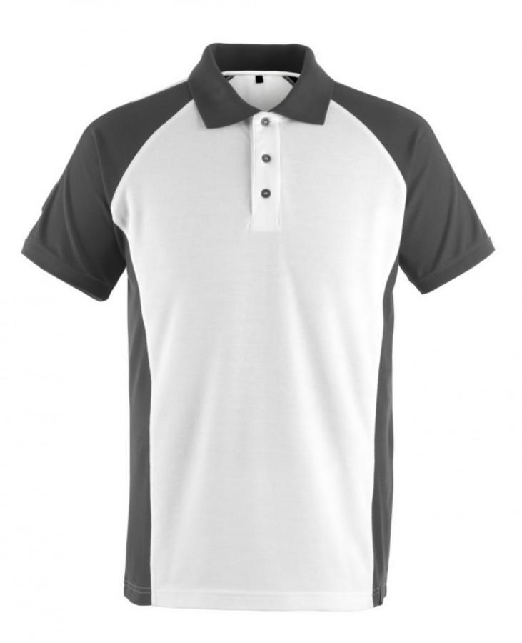 Polo marškinėliai Bottrop balta/tamsus antracitas M, Mascot
