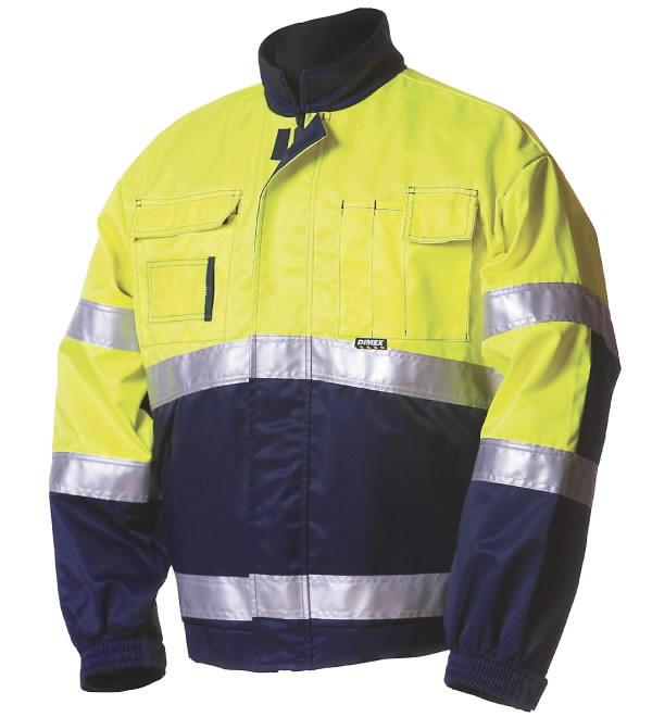 Švarkas  5072 signalinis geltonas/mėlynas L, Dimex