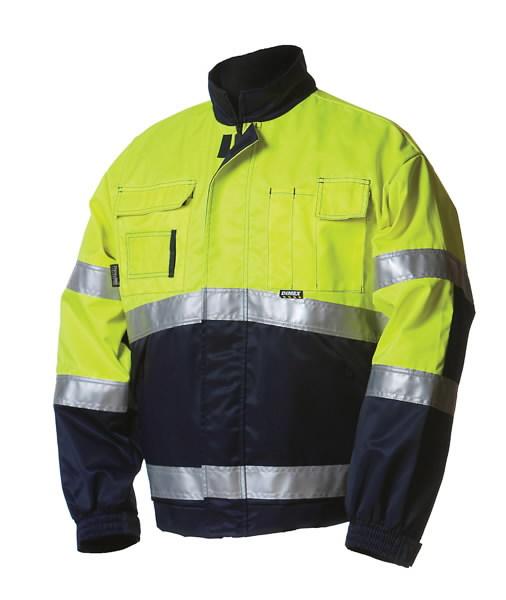 Žieminis švarkas  5091 signalinis geltonas/mėlynas XL, Dimex