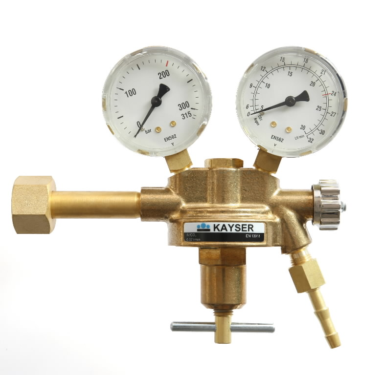 Pressure regulator Ar/CO2 Messer/GOST cylinder (714207N), Binzel