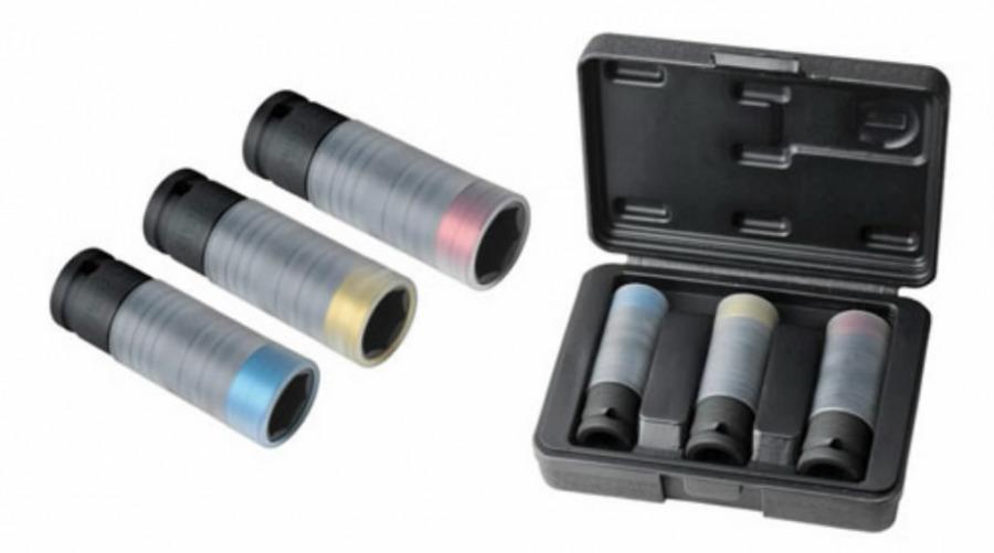 Smūginių galvučių komplektas 1/2'' 17-19-21mm 3vnt slimPOWER, KS tools