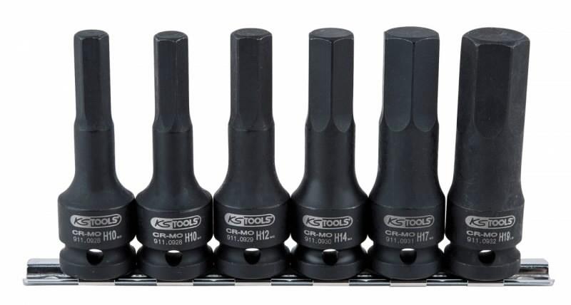 """löökpadrun kmpl sisekuuskant 8-19mm 1/2"""" 6-osa pikk, KS Tools"""