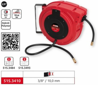 automatic compressed air hose reel 10mmx15m 3/8´´, KS Tools
