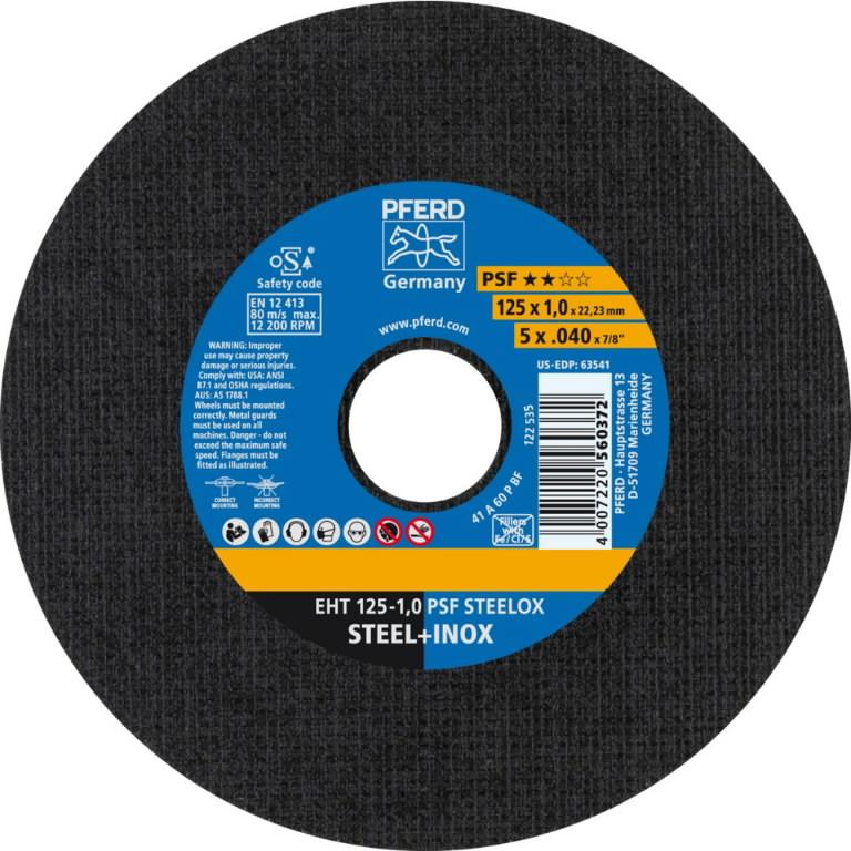 Pjov.disk.nerūd.plienui 125x1x22,23mm A60 P PS-F INOX, Pferd