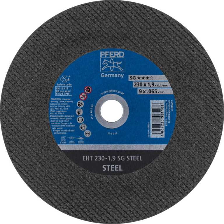 Pjov.disk.metalui 230x1,9mm A46 S SG, Pferd