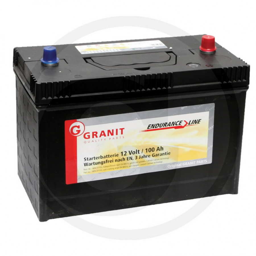 Battery 12V 100Ah TY25879, TY6128, MCEXTY6128W, GRANIT