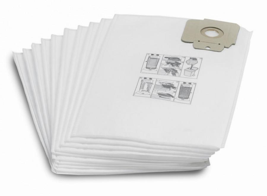 Flisiniai filtrai maišeliai CV 38/1, 10vnt., Kärcher