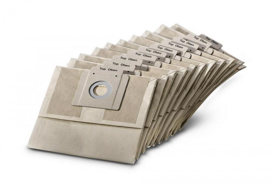 Popieriniai filtrų maišeliai T12/1, 10vnt., Kärcher