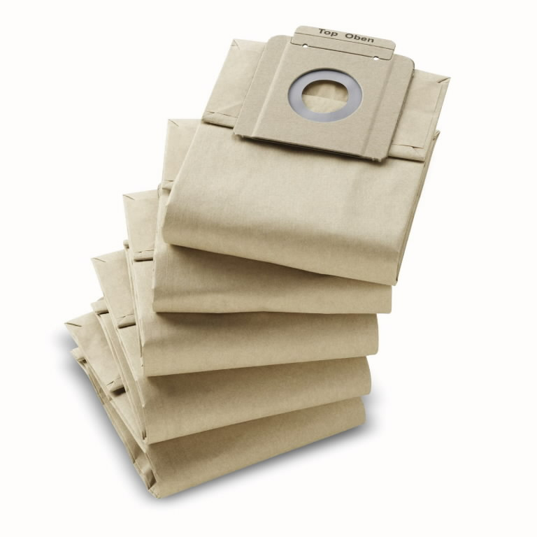 Popieriniai filtrų maišeliai T7/1, T10/1, 10vnt., Kärcher