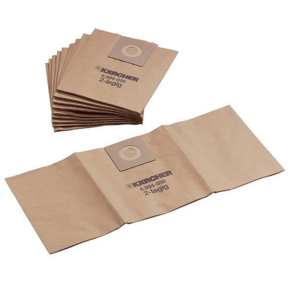 Popieriniai filtrų maišeliai T 201, 10 vnt., Kärcher