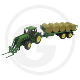 John Deere 6820 model with round bale trailer and modular fr, GRANIT