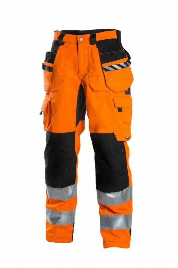 Didelio matomumo kelnės 6015 oranžinė/t.pilka 48, Dimex