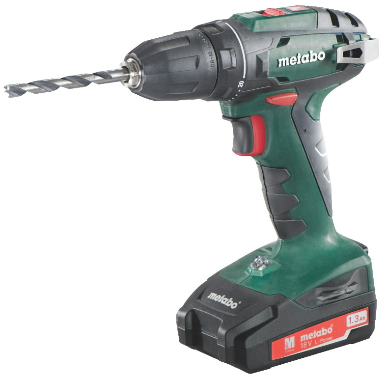 Akutrell BS 18, 10 mm padruniga / 1,3 Ah, Metabo