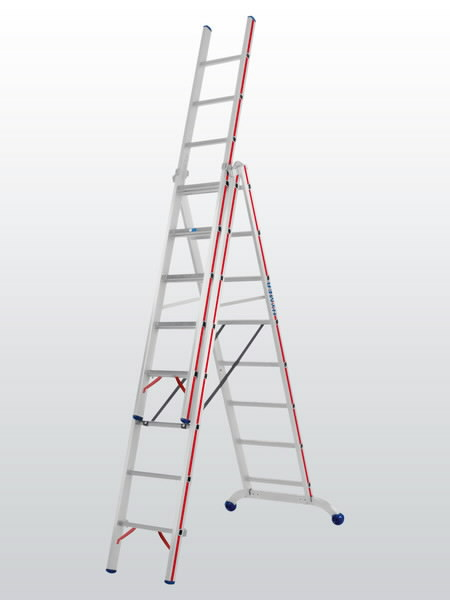 Combination ladder 3x10 steps 6047, Hymer