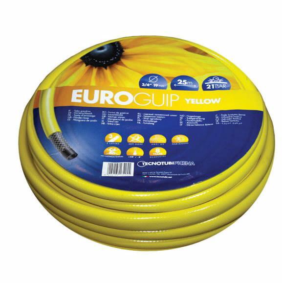 "Zarna sodo EURO GUIP 12,5mm (1/2"") 20m, geltona + jungtis, Tecnotubi Picena"
