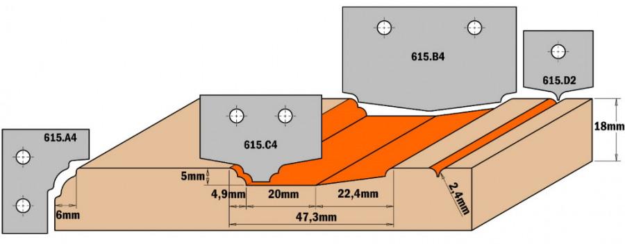 Profiiltera (PROFILE C4) 35X25X2 HM, CMT