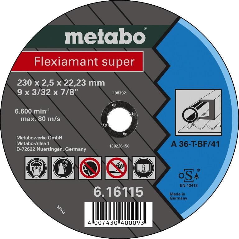 Diskas pjovimo metalui 230x2.5x22, METABO