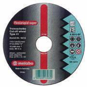 Diskas pjovimo metalui 180mm INOX, Metabo