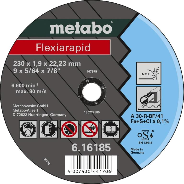 INOX lõikeketas 230x1,9x22 mm, A30R, METABO