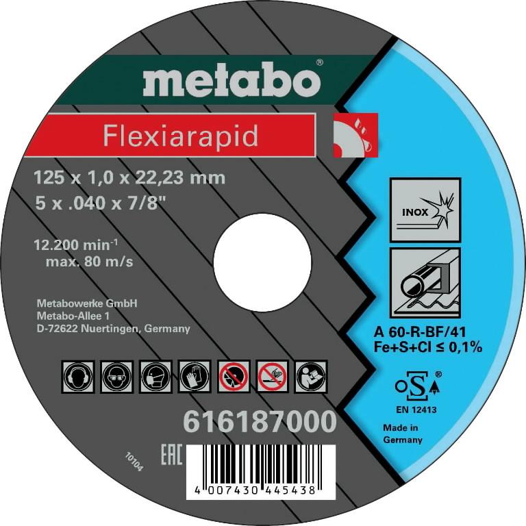 Diskas pjovimo metalui 125x1,0x22,2  INOX, Metabo