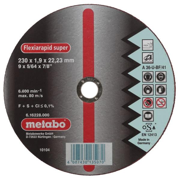 INOX lõikeketas 230x1,9x22 A36U, Metabo