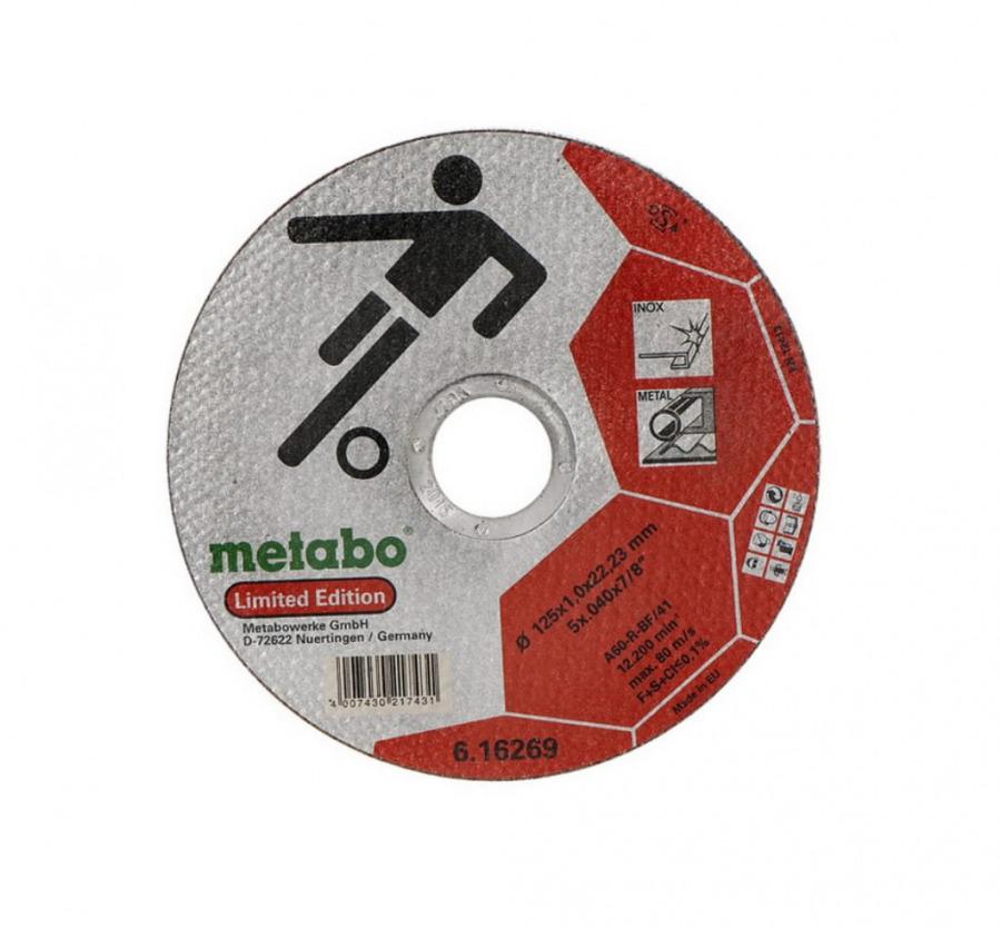 INOX lõikekettad 125x1,0x22  A60R, kiles 10tk, Metabo