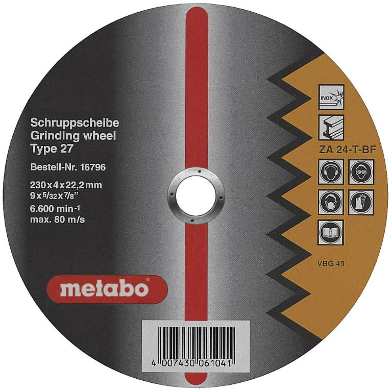 Metallilõikeketas 230x4,0x22,6, Torudele, Metabo