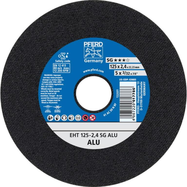 Diskas  EHT 125-2,4 A30 N SG-ALU, Pferd