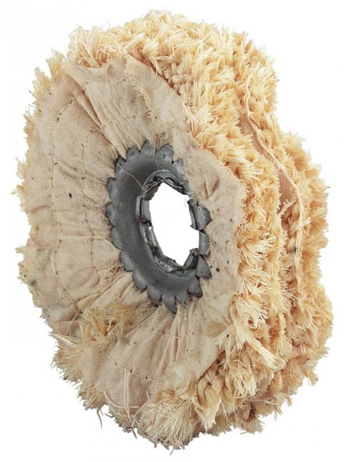 sisal polishing rings, diam 100 mm, with 15 mm, 5 pieses, Metabo