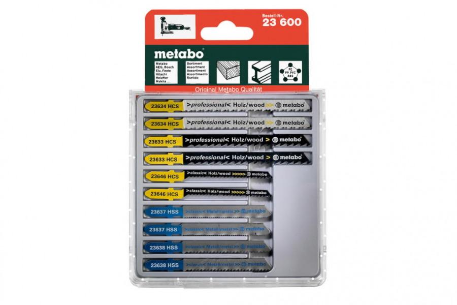 Tikksaeterade segakomplekt (puit, plast, metall) - 10tk, Metabo
