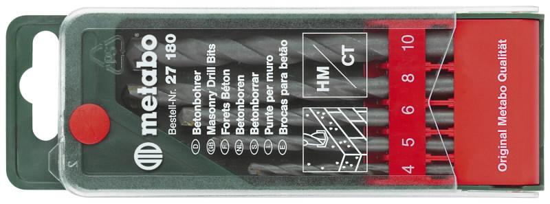 Betoonipuuride kmpl. 5 osaline 4-10 mm, Metabo