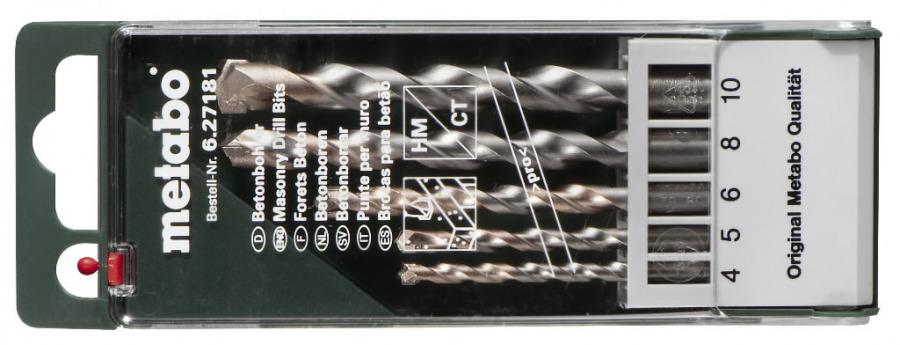 Betoonipuuride kmpl 5 osaline 4-10 mm, Metabo