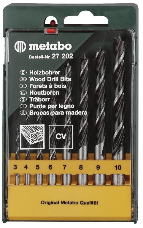 Grąžtų rink.medžiui 8 dal.(3-10mm) pak. 627200000&MET, Metabo