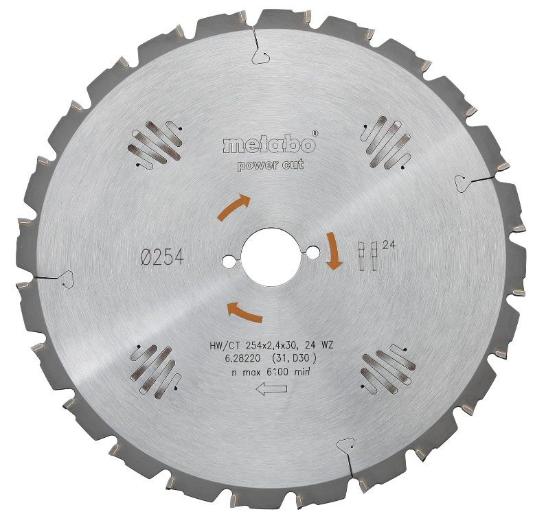 Saw blade 450x3,8/2,8x30 Z66, WZ. Power cut, Metabo