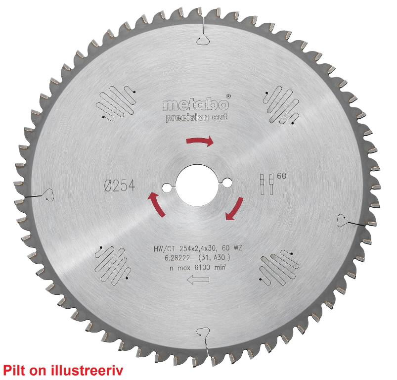 Saeketas 315x2,8/1,8x30, z48, WZ, 15°, Precision Cut., Metabo
