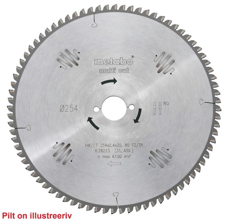 Saeketas 190x2,6/1,8x20, z54, FZ/TZ, -5°. Multi Cut., Metabo