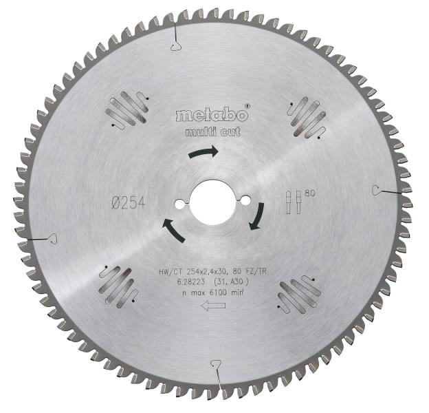Saeketas 190x2,2/1,4x30, z56, FZ/TZ, 8°, Multi Cut. KS 66 / KSE 68, Metabo