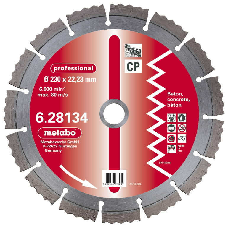 Diamond cutting disc 125x22,23 mm, professional, CP, Metabo
