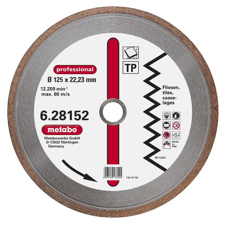 Deimantinis  pjovimo diskas125x22,23 mm, professional, TP, Metabo