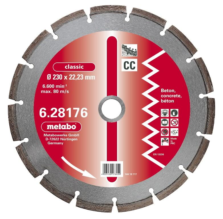 Deimantinis  pjovimo diskas 125x22,23 mm, classic, CP, Metabo