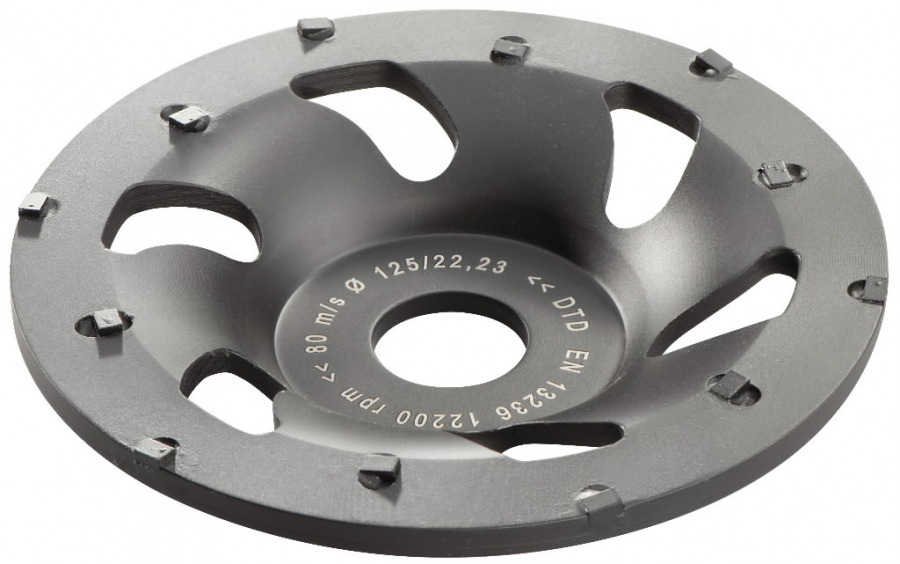 Diamond cup-wheel for concrete, 125 mm. RS 14-125 / 17-125, Metabo
